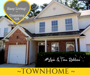 Townhome in sought after Cumming ~ South Forsyth
