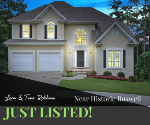 Just Listed ~ Close to Historic Roswell & 400
